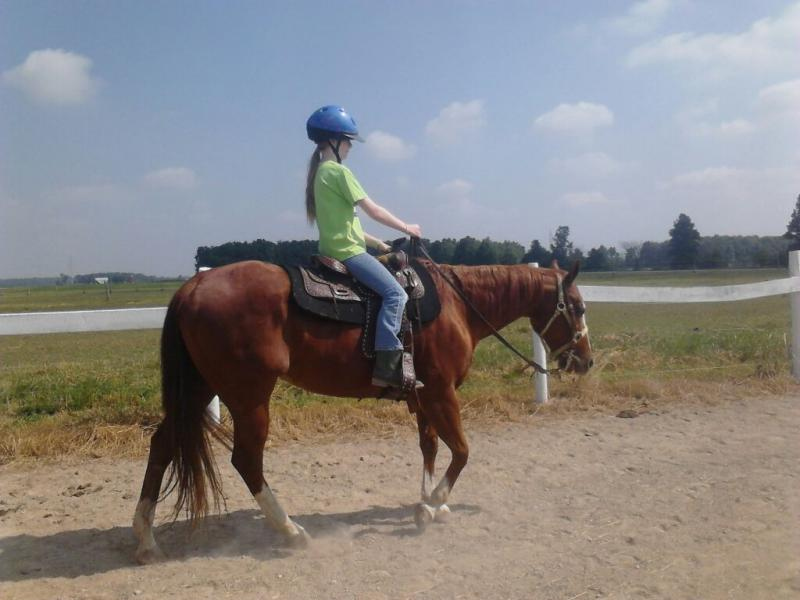 One of our campers riding Jewel